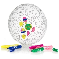 Akcija! Bubabloon lateksa balons ar auduma pārvalku, Colour your own 040338