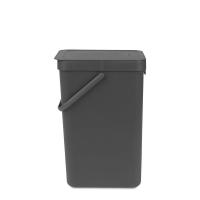 BRABANTIA atkritumu tvertne Sort & Go, 16 l, grey 109966
