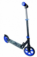 Jaunums! Muuwmi Aluminium Scooter skrejritenis 200 mm, melns/zils AU 461