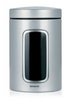 BRABANTIA kārba ar lodziņu,1.4 l Metallic Grey 243509
