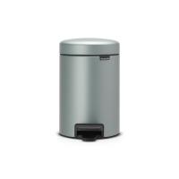 BRABANTIA atkritumu tvertne ar pedāli NewIcon, 3 l, Metallic Mint 113345