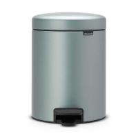 BRABANTIA atkritumu tvertne ar pedāli NewIcon, 5 l, Metallic Mint 112942