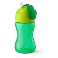 Philips Avent Krūzīte ar elastīgu salmiņu, 300 ml, 12M+, zaļa SCF798/01