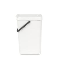 BRABANTIA atkritumu tvertne Sort & Go, 16 l, white 109942