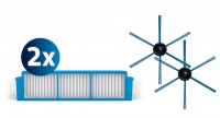 PHILIPS SmartPro Easy Nomaiņas komplekts: 2 filtri un 1 birste, priekš putekļusūcējiem robotiem FC8007/01