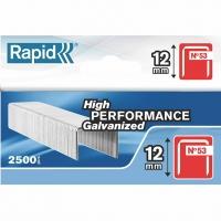 Skavas 53/12 2500 gab. 11,4x0,75 mm, sarkanas, kartona kastē, Rapid