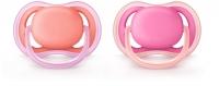 Akcija! Philips Avent Ultra Air silikona māneklītis, 6-18 mēn., meitenēm (2 gab. SCF245/22