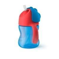 Philips Avent Krūzīte ar elastīgu salmiņu, 200 ml, 9M+, zila SCF796/01