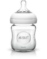 Izpārdošanas cena! Philips Avent stikla barošanas pudelīte Natural 125 ml, 0M+ SCF671/17