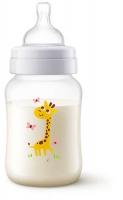 Jaunums! Philips Avent Pretkoliku pudelīte 260 ml, 1M+ Giraffe SCF821/12