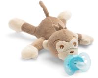 Jaunums! Philips Avent plīša rotaļlieta Mērkaķītis ar Ultra soft māneklīti 0–6 mēn. SCF348/12