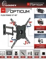 Opticum TV stiprinājums pie sienas 13-50collas, līdz 35kg, melns Flexi Maxx
