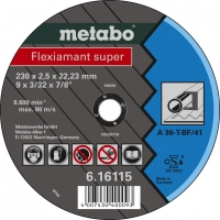 Griezējdisks metālam 230x2,5x22 mm, Metabo