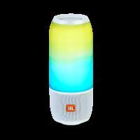 JBL portatīvā skanda ar LED gaismas efektiem, ūdensizturīga, 12h, balta JBLPULSE3WHTEU