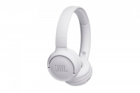 JBL on-ear austiņas ar Bluetooth, baltas JBLT500BTWHT