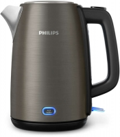 PHILIPS Viva Collection tējkanna, 1.7L (pelēka) HD9355/90