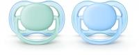 Akcija! Philips Avent Ultra Air silikona māneklītis, 0-6 mēn., zēniem (2 gab.) SCF244/20