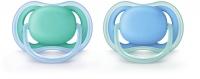 Akcija! Philips Avent Ultra Air silikona māneklītis, 6-18 mēn.,zēniem (2 gab. SCF244/22